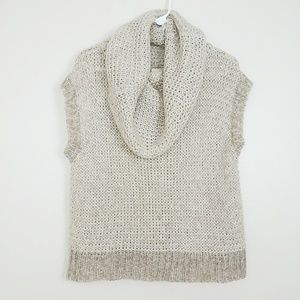 Kaisley Wool Blend Vest Sweater Cowl Neck M #3699